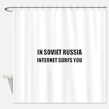 Soviet Russia Internet Surfs You Shower Curtain
