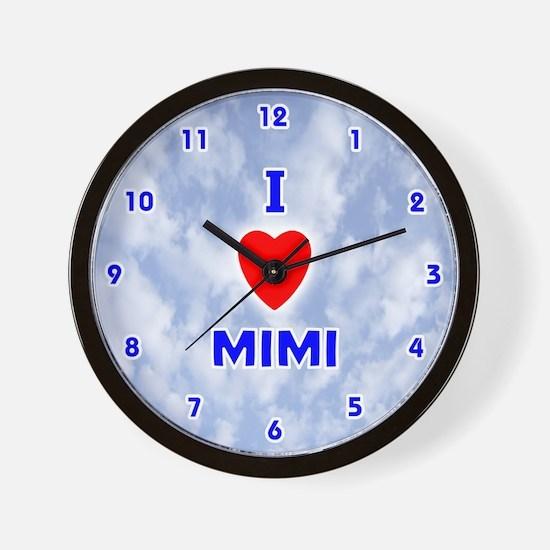 I Love Mimi (Blue) Valentine Wall Clock