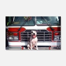 Pit Bull T-Bone Fire House Dog Wall Decal