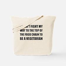 Top Food Chain Vegetarian Tote Bag