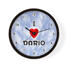 I Love Dario (Black) Valentine Wall Clock