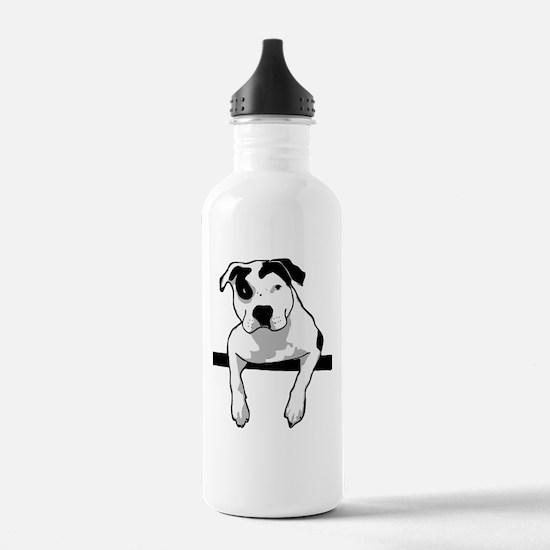 Pit Bull T-Bone Graphic Water Bottle