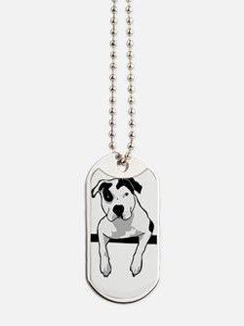 Pit Bull T-Bone Graphic Dog Tags