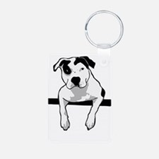 Pit Bull T-Bone Graphic Keychains