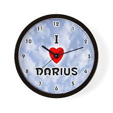 I Love Darius (Black) Valentine Wall Clock