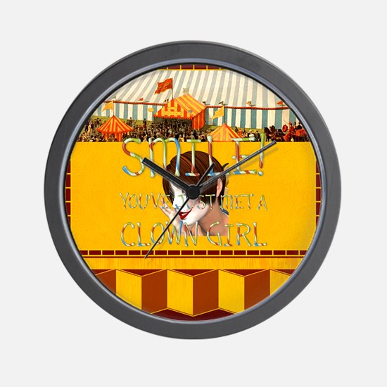 Clown Girl Wall Clock