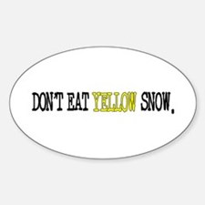 Yellow Snow Sticker (Oval)