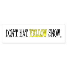 Yellow Snow Car Sticker