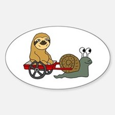 Snail Pulling Wagon with Sloth Stickers