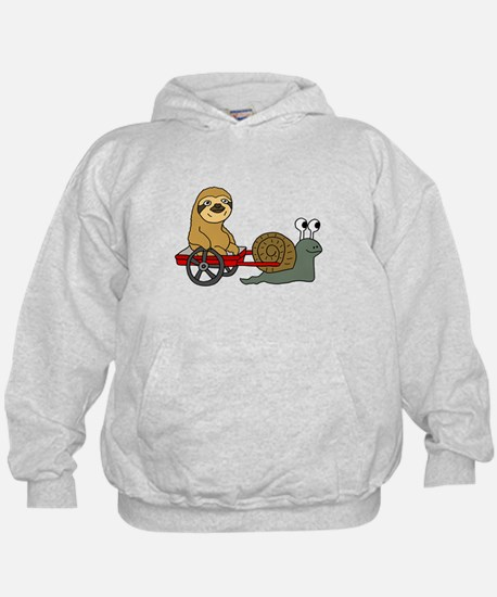 Snail Pulling Wagon with Sloth Hoody