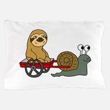 Snail Pulling Wagon with Sloth Pillow Case