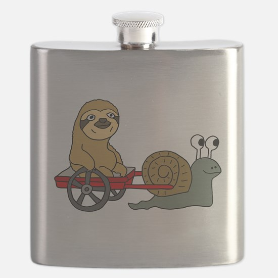 Snail Pulling Wagon with Sloth Flask