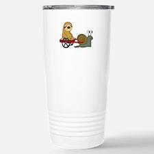 Snail Pulling Wagon wit Travel Mug