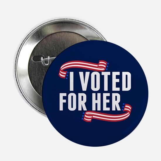 """Voted Hillary 2.25"""" Button"""
