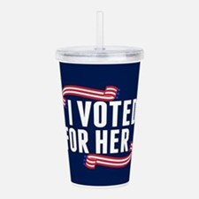 Voted Hillary Acrylic Double-wall Tumbler