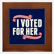 Voted Hillary Framed Tile
