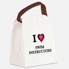 I love Swim Instructors Canvas Lunch Bag