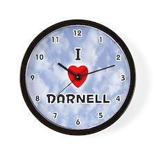 I Love Darnell (Black) Valentine Wall Clock