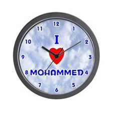 I Love Mohammed (Blue) Valentine Wall Clock