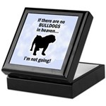Bulldogs In Heaven Keepsake Box
