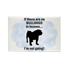 Bulldogs In Heaven Rectangle Magnet