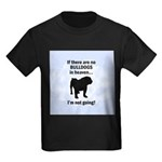 Bulldogs In Heaven Kids Dark T-Shirt