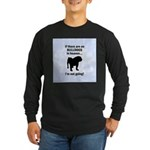 Bulldogs In Heaven Long Sleeve Dark T-Shirt