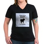 Bulldogs In Heaven Women's V-Neck Dark T-Shirt