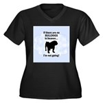 Bulldogs In Heaven Women's Plus Size V-Neck Dark T
