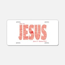 Who Is This Jesus Aluminum License Plate