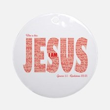 Who Is This Jesus Round Ornament