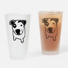 Pit Bull T-Bone Graphic Drinking Glass