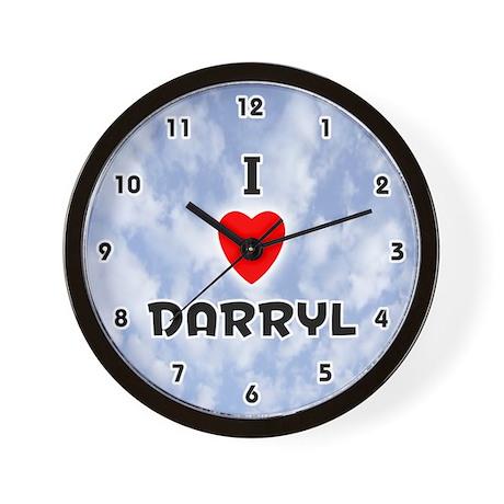 I Love Darryl (Black) Valentine Wall Clock