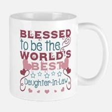 Blessed to be a Daughter-In-Law Mugs