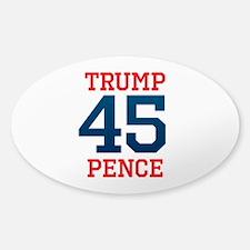 Trump Pence 45 Decal