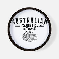 Australian Cannabis Wall Clock