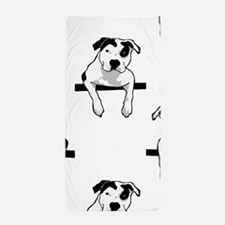 Pit Bull T-Bone Graphic Beach Towel