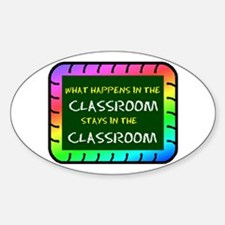 CLASSROOM Oval Decal