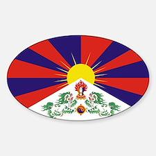 Tibetan Free Tibet Flag - Peu Rangzen Decal