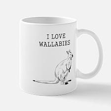 I Love Wallabies Mugs