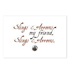 Slings & Arrows Postcards (Package of 8)