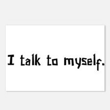 I Talk To Myself Postcards (Package of 8)