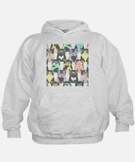 Hipster Cats Hoodie