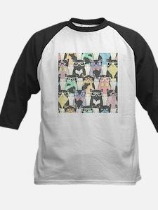 Hipster Cats Kids Baseball Jersey