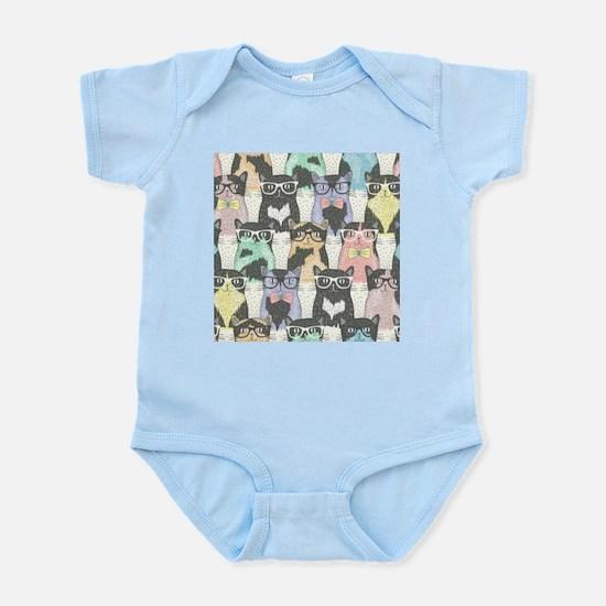 Hipster Cats Infant Bodysuit