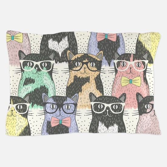 Hipster Cats Pillow Case