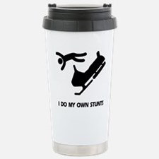 Funny I do all my own stunts Travel Mug