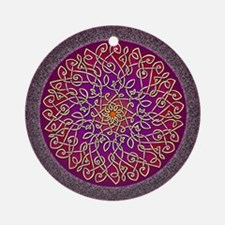 Sangria Celtic Art Burst Round Ornament