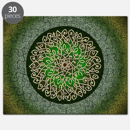 Sage Celtic Art Burst Puzzle