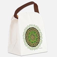 Sage Celtic Art Burst Canvas Lunch Bag